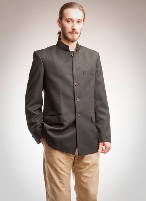 Nehru jacket in black
