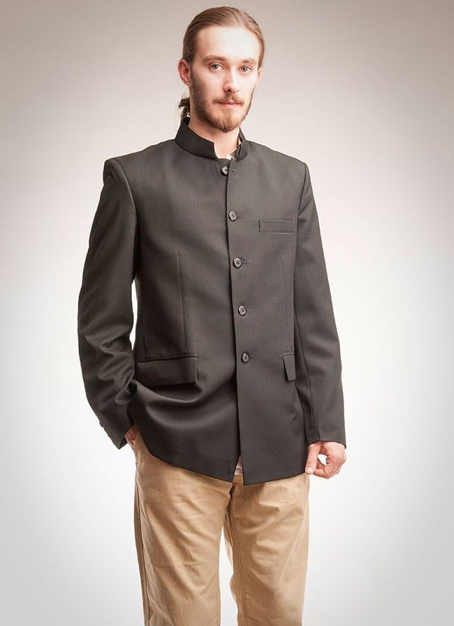 Nehru jacket in black
