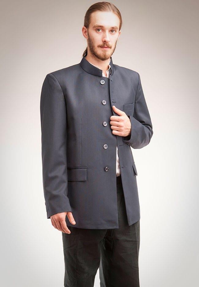 Nehru jacket in dark blue