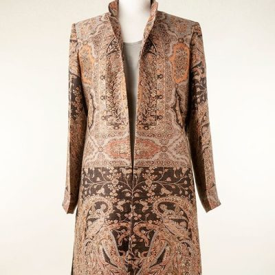 Silk and cashmere coat