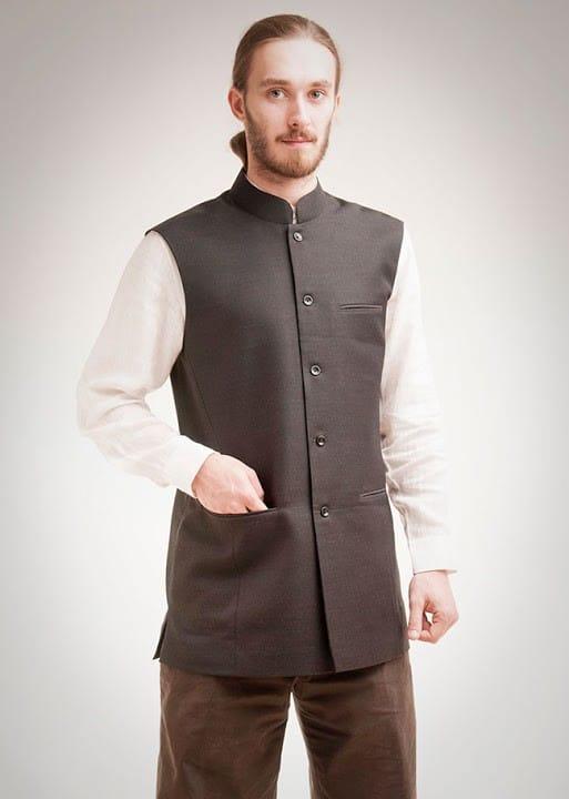 Men's waistcoat in dark grey