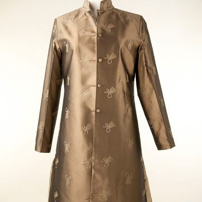 Silk jacket in bronze