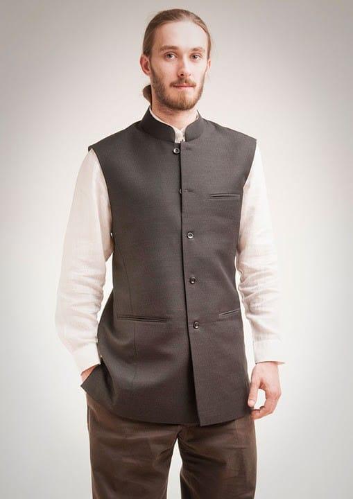 Waistcoat in black