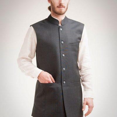 Men's waistcoat in blue